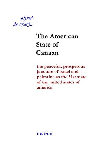 The american state of canaan by alfred de grazia